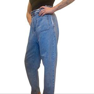 Zara Baggy Paperbag High Waist Jean